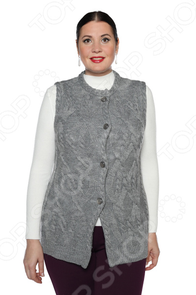 Жилет Milana Style «Любимая прохлада». Цвет: серый платье milana style milana style mi038ewxjv28