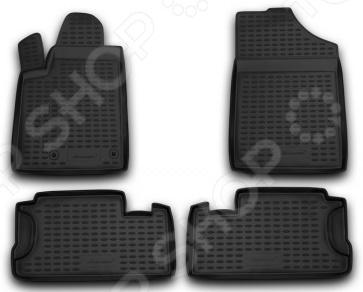 Комплект ковриков в салон автомобиля Novline-Autofamily Hyundai Sonata YF 2010. Цвет: бежевый - фото 5