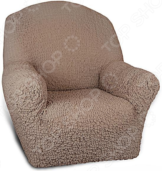Кардинальное изменение интерьера Натяжной чехол на кресло Модерн. Какао инновационный чехол, который даст вторую жизнь старой мебели, поможет ей засиять новыми цветами и кардинально преобразит интерьер. Чехол превосходно натягивается и садится на мебель за счет эластичных нитей, а также легкой ткани, которая придает визуальный объем. Поэтому надеть его на кресло не составит особого труда. Преимущественно садится на кресла стандартной формы и габаритов. Преимущества  Сделан из мягкой ткани, приятной на ощупь.  Прострочен эластичными нитями.  Обладает повышенной износостойкости.  Ткань не деформируется и не выцветает после стирки.  Материал не просвечивает.  Высокая степень растяжимости и усадки.  Его можно не гладить.  Защита мебели Сохранение чистоты и гигиеничности это немаловажная часть работы, с которой чехол с легкость справляется. Он используется не только трансформации интерьера, но и для защиты от пыли, пятен, а хозяев от необходимости регулярной чистки. А ведь оригинальную ткань от мебели не так то просто выстирать. Поэтому чехол будет не только красивым дополнением, но и необходимой мерой предосторожности. Отстирать чехол можно в стиральной машинке при температуре 40 С без отжима. Пятна выводятся без проблем, без дорогостоящей химчистки. Также важно отметить, что такую ткань не обязательно гладить.  Одежда для вашей мебели Способов обновить старую мебель не так много. Чаще всего приходится ее выбрасывать, отвозить на дачу или мириться с потертостями и поблекшими цветами. Особенно обидно избавляться от мебели, когда она сделана добротно, но обивка подвела. Эту проблему решают съемные чехлы для мебели, быстро набирающие популярность в России. Незаменимы чехлы для мебели в домах с маленькими детьми и домашними животными, в гостиных, где устраиваются застолья и посиделки, в интерьерах офисов. В съемных квартирах они помогут сохранить чистоту и гигиеничность. Но все-таки главное их предназначение это эстетическое обновление интерьера. Узнайте больше о плюсах при