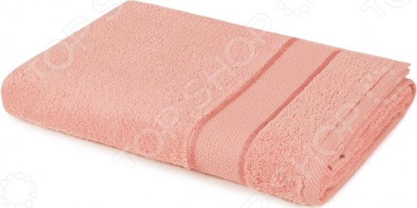 Полотенце махровое Aquarelle «Весна». Цвет: розовый, персиковый