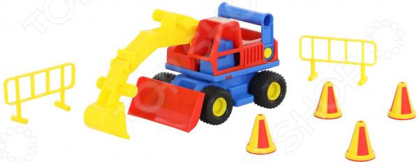 Машинка игрушечная Wader «КонсТрак. Экскаватор колёсный» автомобиль самосвал констрак полесье экскаватор колёсный в коробке 40855