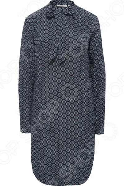 Платье Finn Flare B17-12051. Цвет: темно-синий