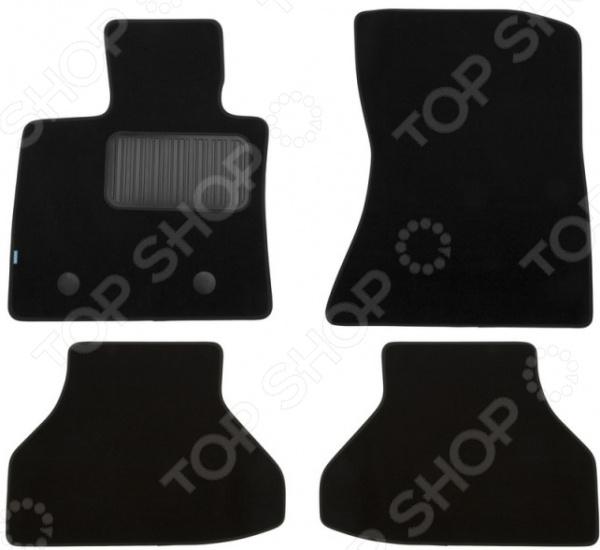 Комплект ковриков в салон автомобиля Klever Premium для BMW X6 Е71 внедорожник, 2008-2012