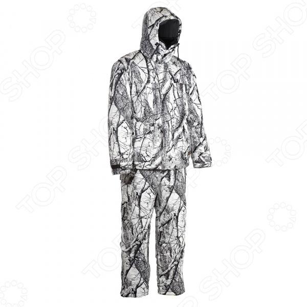 Костюм для охоты и рыбалки зимний Huntsman «Памир». Рисунок: белый лес