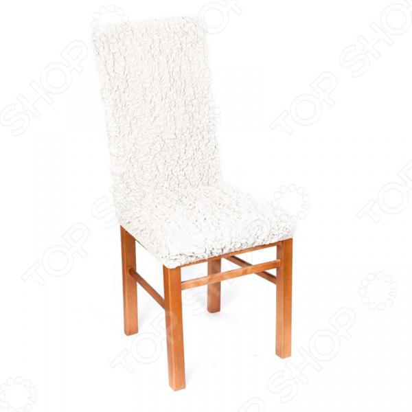 Натяжной чехол на стул Модерн. Шампань подарит вторую жизнь старому стулу. Вам надоело однообразие, хотите обновить приевшийся интерьер Совсем не обязательно для этого покупать новую мебель, ведь сегодня можно легко подобрать красивый чехол из богатого ассортимента. При этом изделие выполняет не только эстетическую функцию, но и защитную: от случайных пятен, царапин, протирания и шерсти животных.  Однако чехол окажется полезен и в другой ситуации. Допустим, вы сделали ремонт в комнате, и старый стул уже не вписывается по стилю в интерьер помещения. Не беда! Просто подберите подходящий чехол и готово. Он без особого труда надевается на стулья практически любого типа и также легко снимается. Изделие сшито из приятной на ощупь ткани, обладающей следующими свойствами:  прочность и износостойкость;  хорошая растяжимость благодаря эластичным нитям в составе ткани;  устойчивость к деформации даже после стирки ;  долго сохраняет свой оригинальный цвет.  Материал не требует особого ухода. Допускается ручная или машинная стирка при температуре от 30 до 40 C без применения отбеливающих средств. Одежда для вашей мебели Способов обновить старую мебель не так много. Чаще всего приходится ее выбрасывать, отвозить на дачу или мириться с потертостями и поблекшими цветами. Особенно обидно избавляться от мебели, когда она сделана добротно, но обивка подвела. Эту проблему решают съемные чехлы для мебели, быстро набирающие популярность в России. Незаменимы чехлы для мебели в домах с маленькими детьми и домашними животными, в гостиных, где устраиваются застолья и посиделки, в интерьерах офисов. В съемных квартирах они помогут сохранить чистоту и гигиеничность. Но все-таки главное их предназначение это эстетическое обновление интерьера. Узнайте больше о плюсах приобретения еврочехлов:  Дизайн еврочехлов исполнен в русле самых свежих трендов рынка интерьерного текстиля. В линейке еврочехлов вы найдете подходящий вариант для воплощения любой дизайнерской идеи.  Еврочехлы подходят для любого