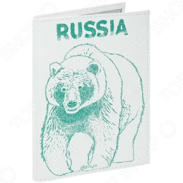 Обложка для автодокументов кожаная Mitya Veselkov «Медведь» аксессуар