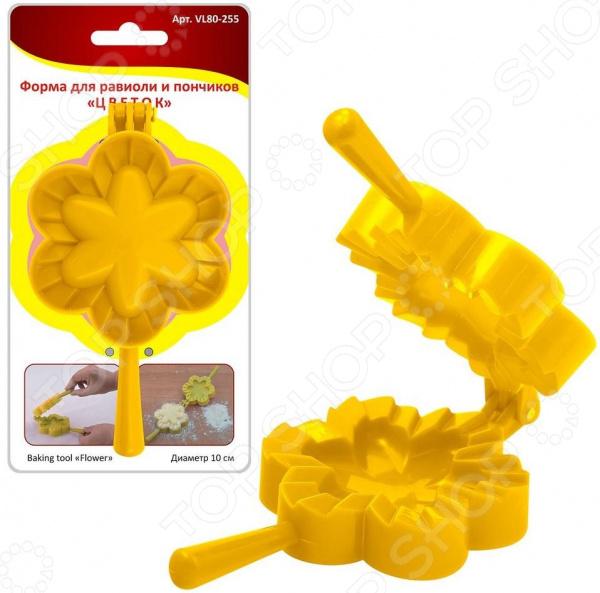 Форма для равиоли и пончиков Мультидом «Цветок» VL80-255 форма для изготовления чебуреков мультидом vl80 220 в ассортименте