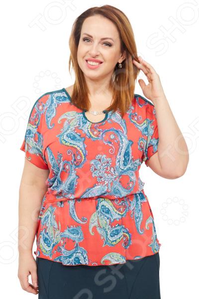 Туника Лауме-стиль «Эмили». Цвет: коралловый туника лауме стиль галла цвет васильковый