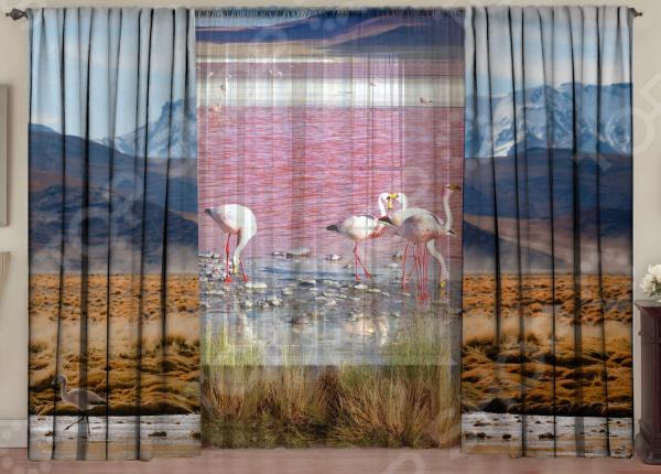 Комплект фотоштор с тюлем ТамиТекс «Лагуна Фламинго»