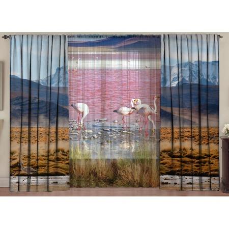 Купить Комплект фотоштор с тюлем ТамиТекс «Лагуна Фламинго»