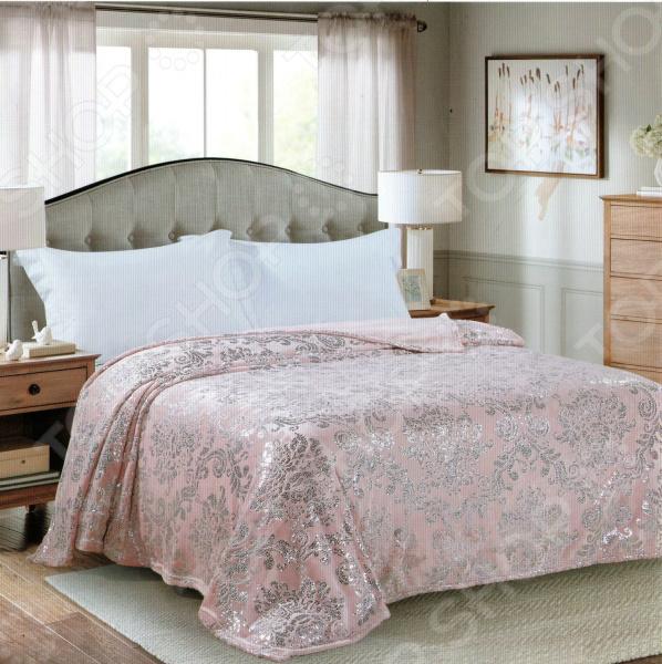 Плед Avrora Texdesign «Серебряный век». Цвет: розовый