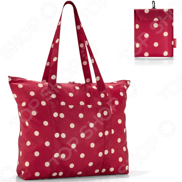 Сумка складная Reisenthel Mini Maxi Travelshopper Ruby Dots дождевики reisenthel дождевик mini maxi stonegrey dots