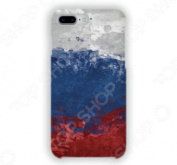 Чехол для iPhone 7 Plus Mitya Veselkov «Флаг Российской Федерации» чехол для iphone 7 глянцевый printio русский флаг