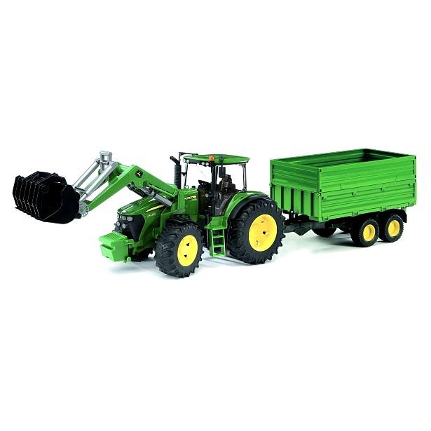 фото Трактор игрушечный Bruder с погрузчиком и прицепом John Deere 7930