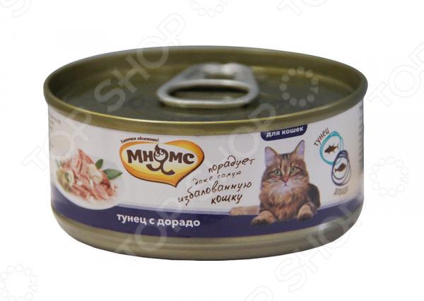 Корм консервированный для кошек Мнямс «Тунец с дорадо в нежном желе»
