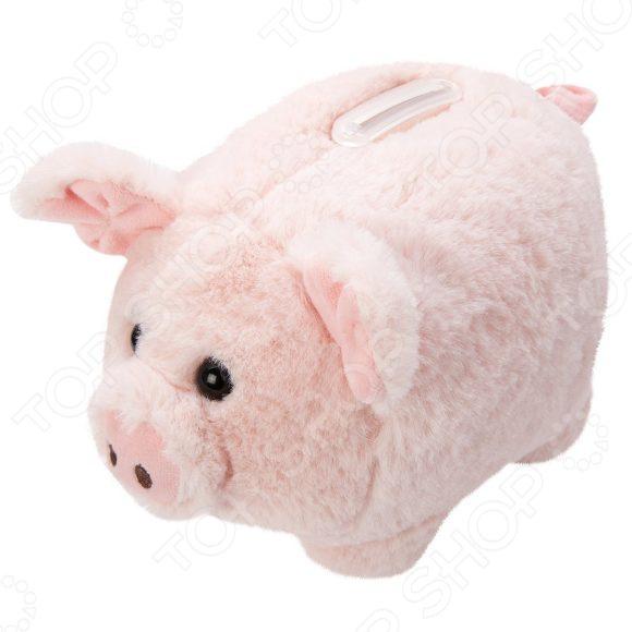 Мягкая игрушка Fluffy Family «Свинка копилка меховая»