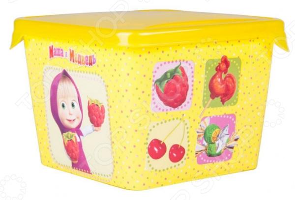Детская емкость для хранения «Маша и Медведь» 0616009 емкость для хранения маша и медведь mini с крышкой цвет желтый 750 мл