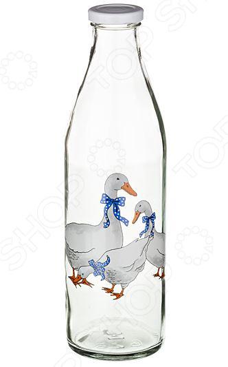 Бутылка для молока «Гуси»