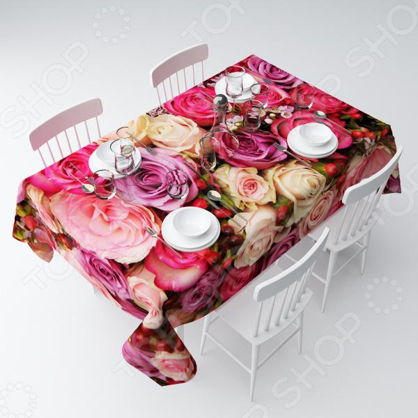 Скатерть Сирень «Восхитительный букет роз»