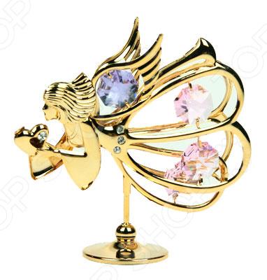 где купить  Фигурка декоративная Crystocraft «Ангел» с кристаллами Swarovski 67171  по лучшей цене