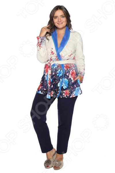 Костюм Алтекс «Семейные посиделки». Цвет: синий блуза алтекс цвет белый черный