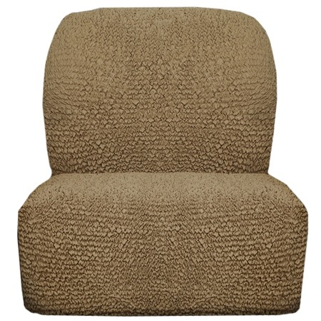 Купить Натяжной чехол на кресло без подлокотников Еврочехол «Микрофибра. Кофейный»