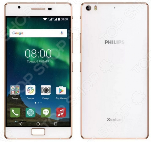 Смартфон Philips Xenium X818 32Gb смартфон philips xenium x818 3 32gb золотой 867000140392