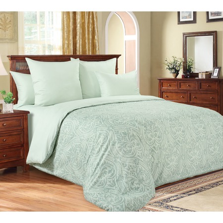 Купить Комплект постельного белья Королевское Искушение «Илона». Евро. Цвет: зеленый