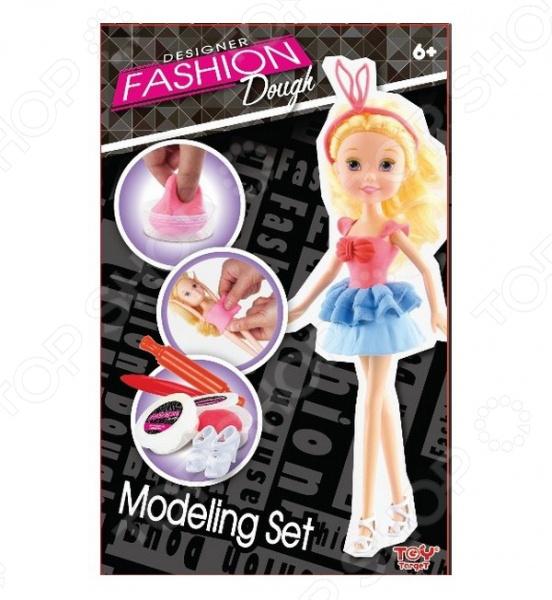 Пластилин с куклой Toy Target «Блондинка в голубой юбке»