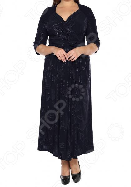 Платье VEAS «Модный показ». Цвет: темно-синий