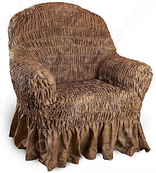 Натяжной чехол на кресло Еврочехол «Фантазия. Шоколад»