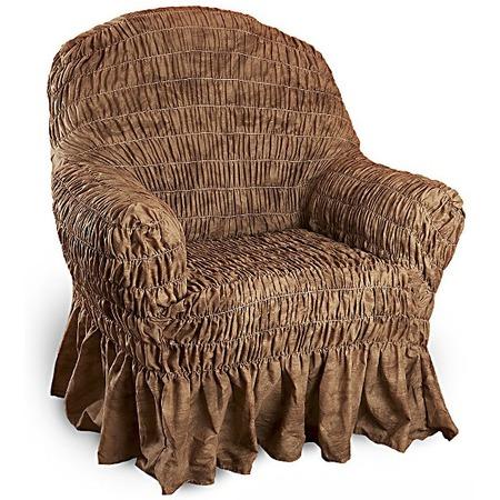 Купить Натяжной чехол на кресло Еврочехол «Фантазия. Шоколад»