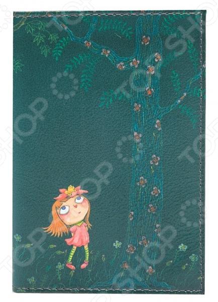 Обложка для автодокументов кожаная Mitya Veselkov «Девочка в розовом платье ночью» где ночью алкоголь дешево