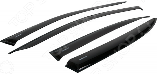 Дефлекторы окон неломающиеся накладные Azard Voron Glass Samurai Peugeot 4007 2007-2012 voron glass для peugeot 4008 2012 н в накладные скотч к т 4 шт