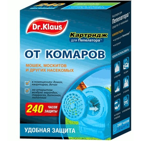 Купить Картридж для пепелатора Dr.Klaus от комаров, мошек, москитов и других насекомых