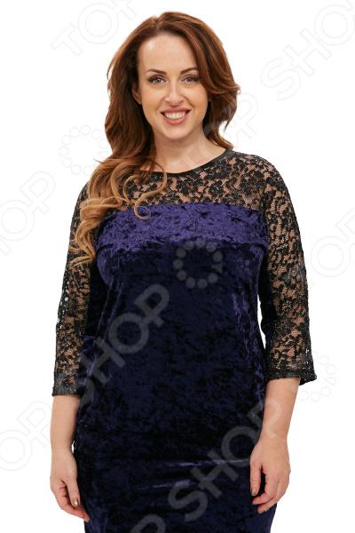 Блуза Лауме-Лайн «Легкий соблазн». Цвет: темно-синий блуза лауме лайн сад чудес цвет темно синий