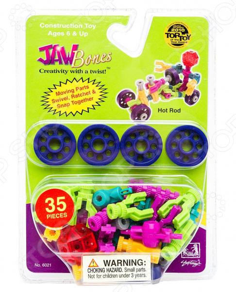 Конструктор развивающий Jawbones «Гоночная машина». Количество элементов: 35 jawbones конструктор велосипед jawbones в блистере 13 деталей