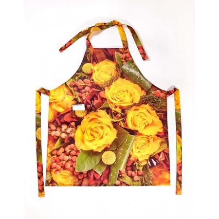 Купить Фартук Сирень «Желтые розы с личи»