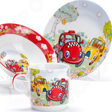 Набор посуды для детей Loraine LR-27334 «Авто»