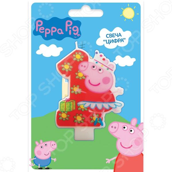 Свеча-цифра Peppa Pig №1