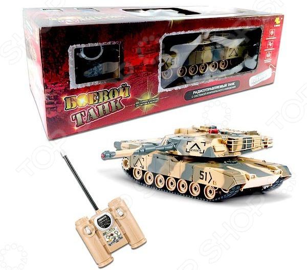 Танк на радиоуправлении ABtoys «Боевой» танк игрушечный abtoys abtoys радиоуправляемый танк абрамс 1 24 с имитацией стрельбы