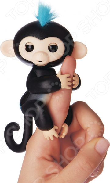 Игрушка интерактивная Fingerlings «Обезьянка Финн» интерактивная игрушка обезьянка wowwee fingerlings финн пластик черный 12 см 3701a