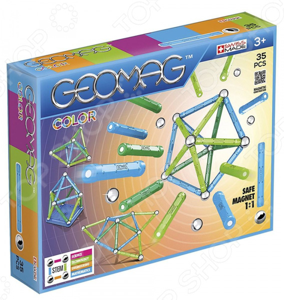 Конструктор магнитный Geomag Color 261