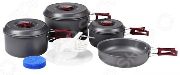 Набор посуды туристической Boyscout «Туристический» 61167 табурет складной туристический 24x21x26см boyscout 61064