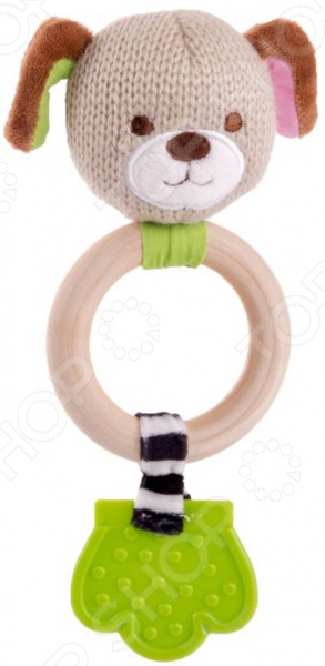 Игрушка-погремушка Happy Snail «Щенок Эко»