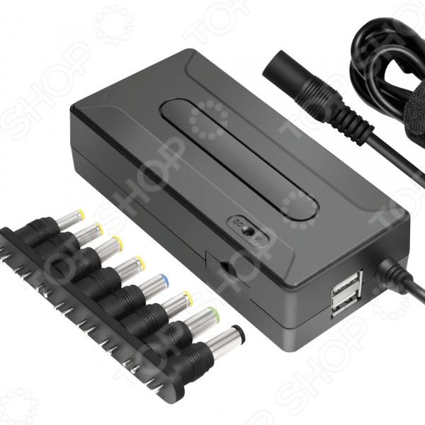 Адаптер питания для ноутбука Ginzzu GA-1090U универсальный адаптер питания для ноутбуков ginzzuga 1090u 90w 2xusb 12v 24v 8 dc in