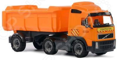 Машина игрушечная с аксессуарами Полесье Volvo «Самосвал с полуприцепом» машина игрушечная с аксессуарами полесье майк