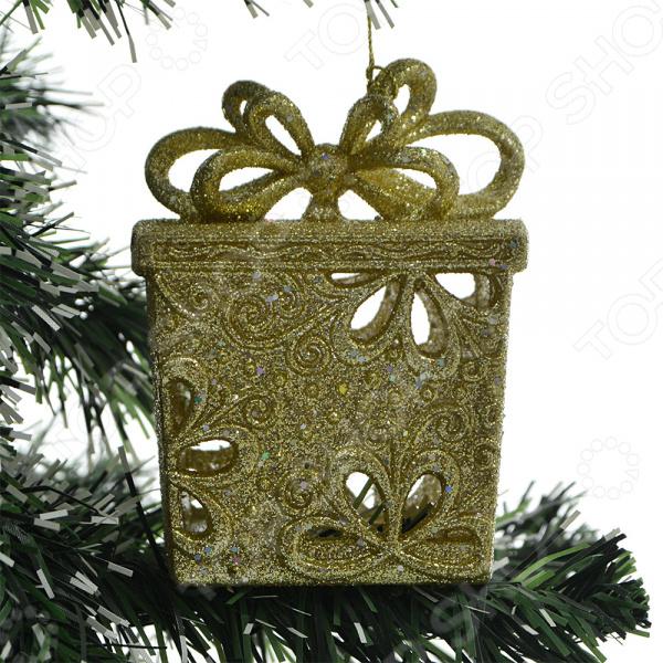 Новогоднее украшение Crystal Deco «Подарочная коробка»