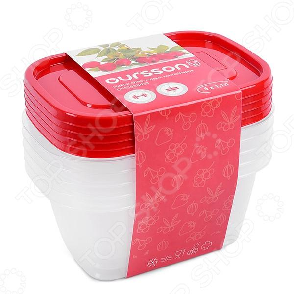 Набор контейнеров для хранения продуктов Oursson CP5583S/RD контейнер для хранения продуктов oursson cp 2300