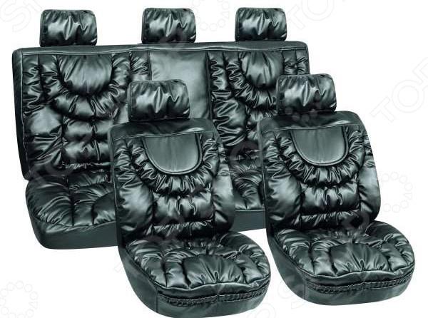 Набор чехлов для сидений SKYWAY «Люкс. Премиум-класс» LUX-28795 BK универсальные чехлы на авто